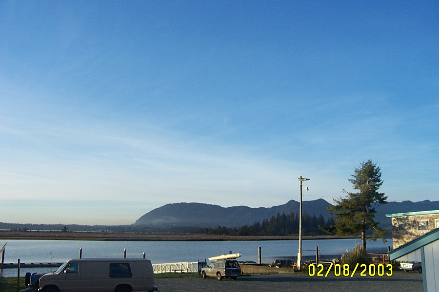 the bay looking north from Wheeler, Oregon.
