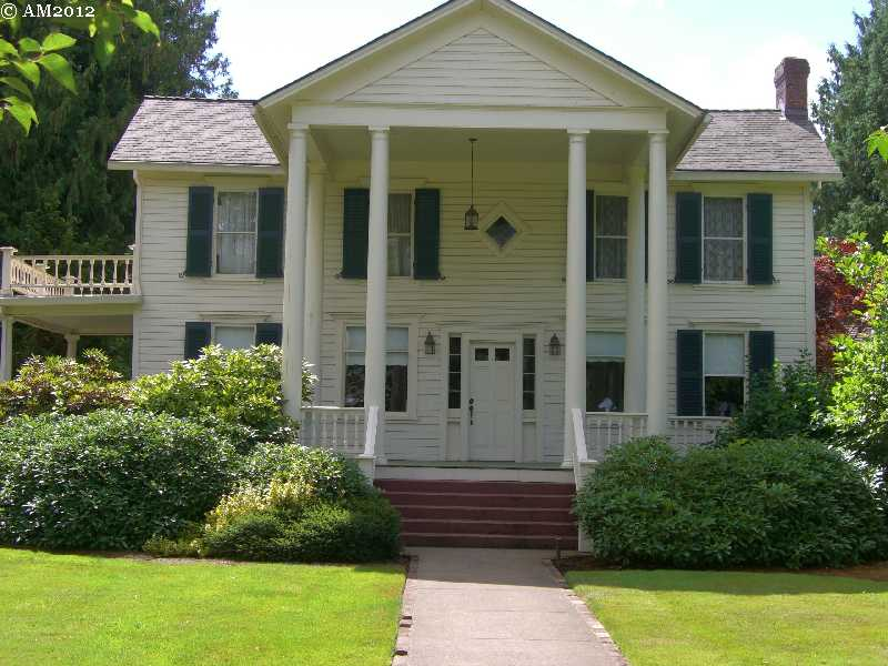 The Joel Palmer house in Dayton, Oregon.