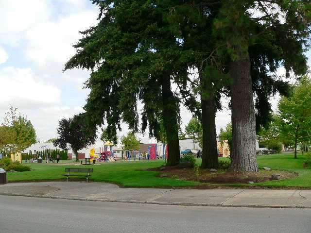 The city park in Molalla, Oregon.