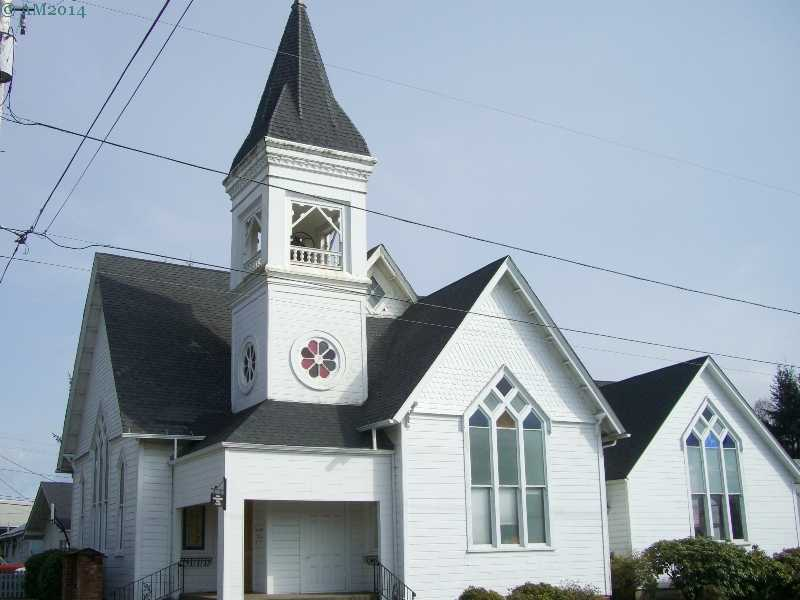 The United Methodist Church in Yamhill, Oregon.