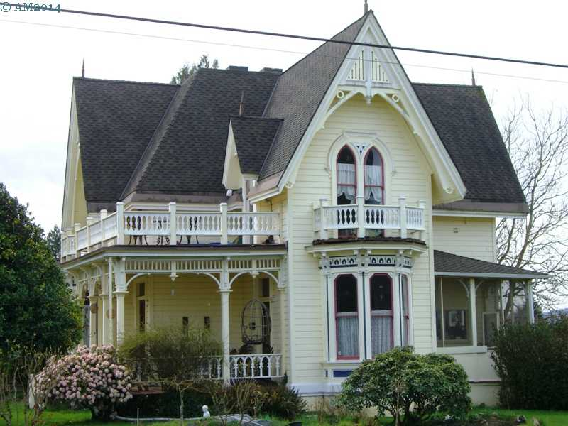 The Lee Laughlin house circa 1873, Yamhill, Oregon.