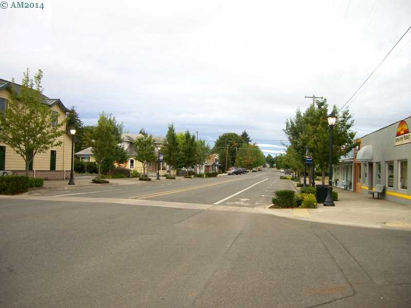 Looking east on Main Street, Cresswell, Oregon.
