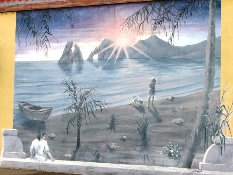 A mural in Cresswell, Oregon.