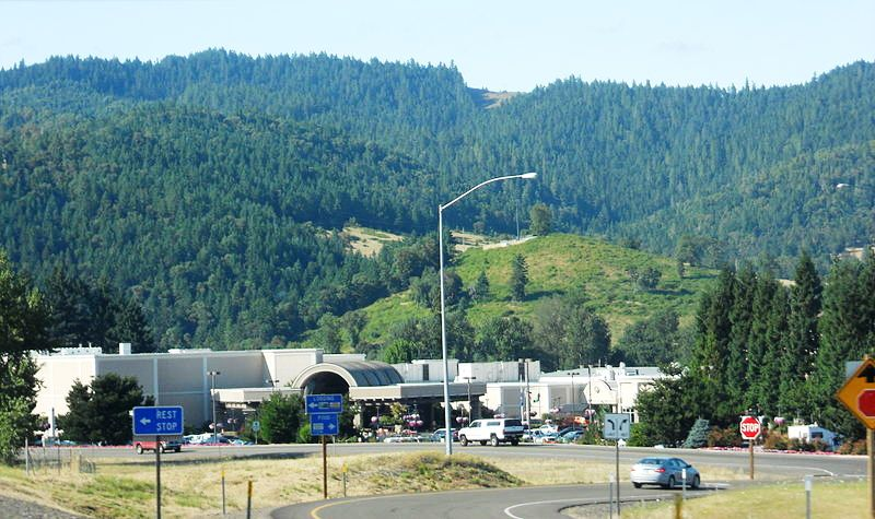 Panoranic view of the Seven Feather Casino in Canyonville, Oregon.