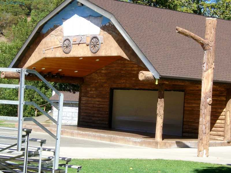 Open air stage in Canyonville, Oregon.