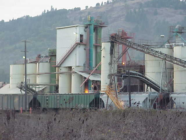 Slag plant in Riddle, Oregon.