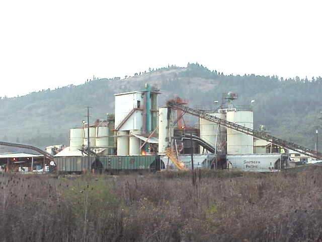 Slag processing plant in Riddle, Oregon.