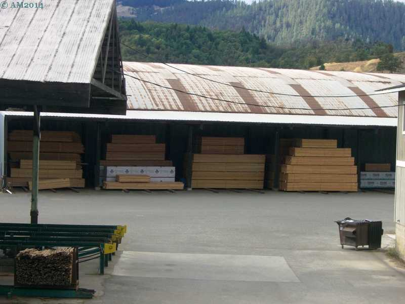 Sawmill yard in Riddle, Oregon.