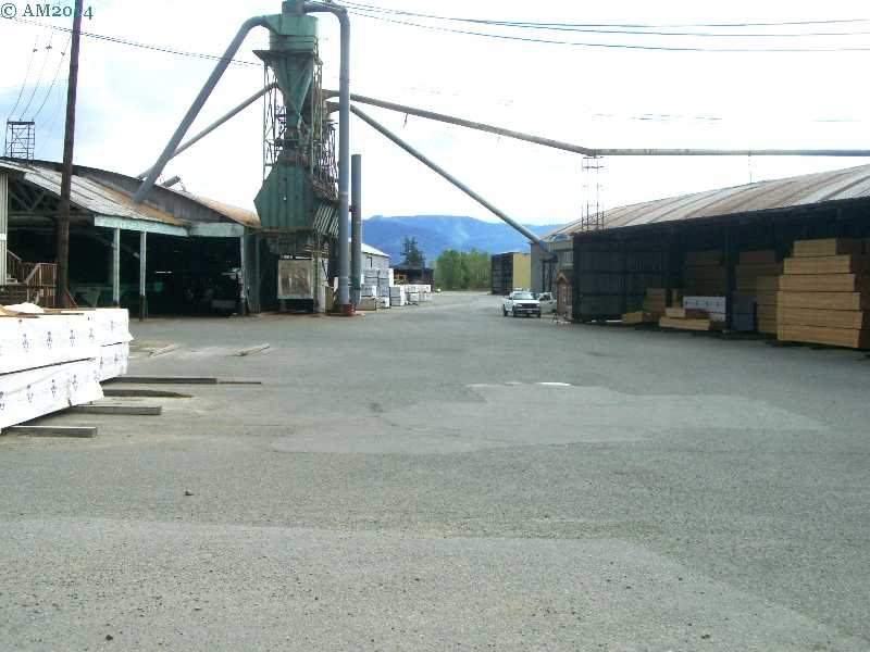 A sawmill yard in Riddle, Oregon