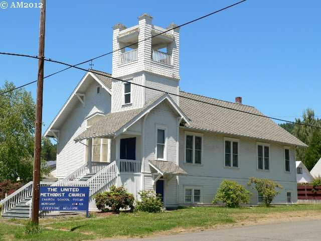 The Methodist church in Sutherlin, Oregon.