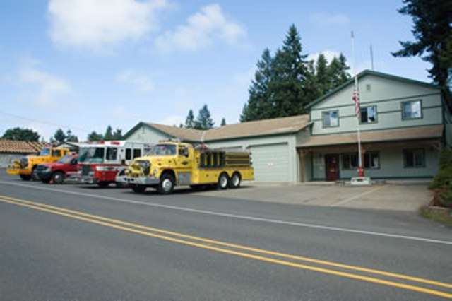 The fire station in Colton, Oregon.