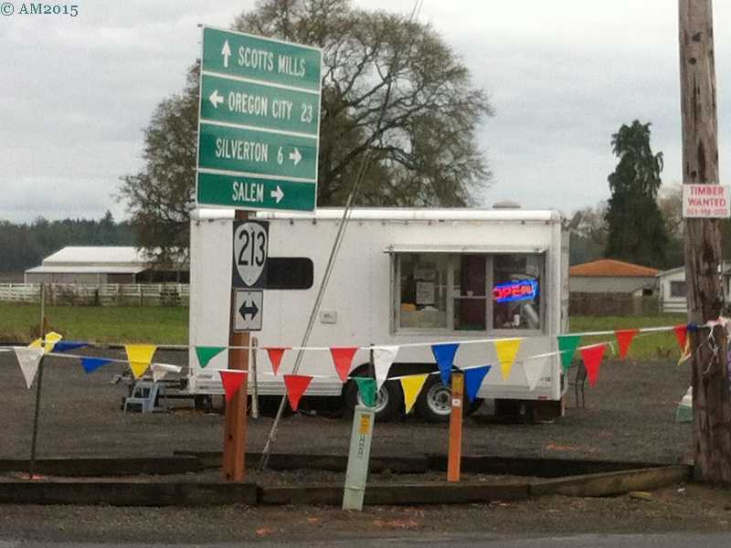 The coffee stand in Marquam, Oregon.