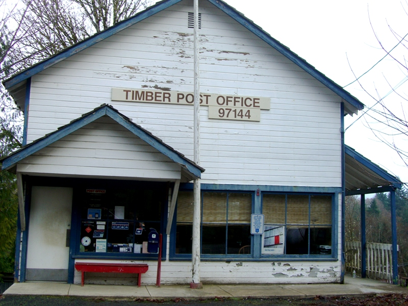 The post office at Timber, Oregon.